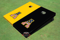 "Appalachian State University ""A"" Alternating Solid Custom Cornhole Board"