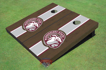 Mississippi State University Bulldog Head Maroon Onyx Matching Long Strip Cornhole Boards