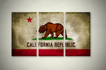 Rustic California State Flag Elegant Wall Art