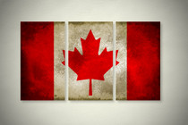 Rustic Canadian Flag Elegant Wall Art
