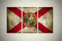 Rustic Florida State Flag Elegant Wall Art