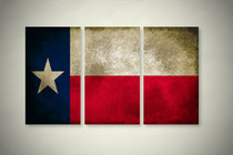 Rustic Texas State Flag Elegant Wall Art