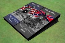 Custom Yankees And Rebels Civil War Patriotic Grant / Lee Custom Cornhole Board