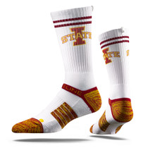 Iowa State University White Cyclone Strapped Fit 2.0 Socks