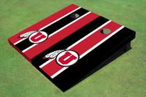 University Of Utah 'U' Alternating Long Stripe Custom Cornhole Board