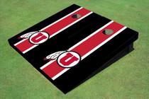 University Of Utah 'U' Red And Black Matching Long Stripe Custom Cornhole Board