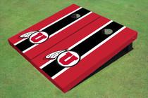 University Of Utah 'U' Black And Red Matching Long Stripe Custom Cornhole Board