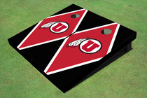 University Of Utah 'U' Red And Black Matching Diamond Custom Cornhole Board