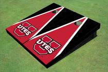 University Of Utah 'UTES' Red And Black Matching Triangle Custom Cornhole Board