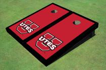 University Of Utah 'UTES' Red Matching Border Custom Cornhole Board
