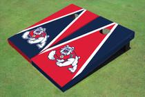 Fresno State Bulldog Alternating Triangle Custom Cornhole Board