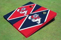 Fresno State Bulldog Alternating Diamond Custom Cornhole Board