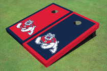 Fresno State Bulldog Alternating Border Cornhole Boards