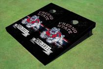 Fresno State Bulldog Rosewood Alternating Long Stripe Cornhole Boards