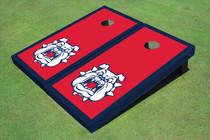 Fresno State Bulldog 'Dog Face' Red Matching Border Custom Cornhole Board