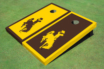 University Of Wyoming Cowboys Alternating Border Cornhole Boards