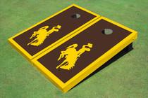 University Of Wyoming Cowboys Brown Matching Border Custom Cornhole Board