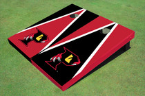 """Orlando Predators """"P"""" Black And Red Alternating Triangle Cornhole Boards"""