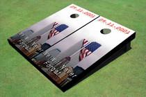 9/11 Never Forget American Flag Cornhole Board set
