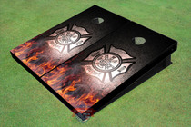 Custom Fire Department General Graphic Cornhole Board Set
