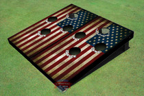 American Flag 4 Hole Cornhole Board set