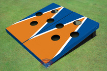 Orange And Blue Matching Triangle Custom Cornhole Board - FH-1000
