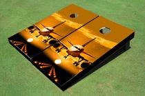 Jet Sunset Custom Cornhole Board