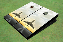 Jet Sunset 2 Custom Cornhole Board