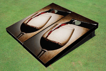 Wine Vignette Custom Cornhole Board