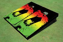 Rasta Lion Custom Cornhole Board