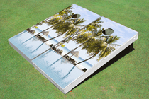 Beach Straw Shape Custom Cornhole Board