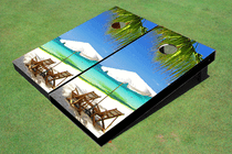 Beach Chair 2 Custom Cornhole Board