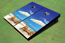 Beach Gazebo Custom Cornhole Board