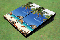 Sun Bathing Custom Cornhole Board
