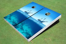 Ship Empty Ocean Custom Cornhole Board