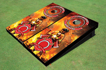 Fire Fighter Maltese Cross Cornhole Board Set