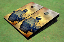 Fire Fighter 2 Custom Cornhole Board