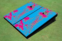 90's Splatter Custom Cornhole Board
