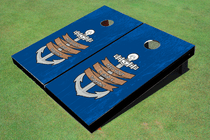 Keep Your Ship Together Custom Cornhole Board