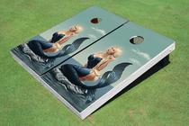 Sexy Mermaid Custom Cornhole Board