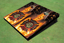 Fire Department 1 Custom Cornhole Board