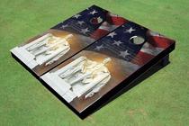 Abe Lincoln Custom Cornhole Board
