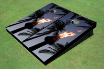 Tiki Torch Custom Cornhole Board
