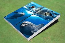 Dolphins Custom Cornhole Board