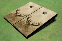 Deer In Tall Grass Custom Cornhole Board