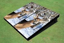 Deer In Snow Custom Cornhole Board
