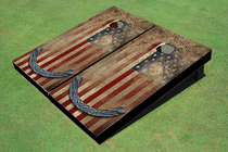 Constitutional Flag Cornhole Board set