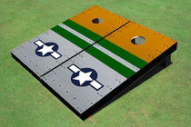 Rivet Flying Fort Air Force Custom Cornhole Board