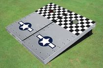 Rivet Mustang Plane Custom Cornhole Board