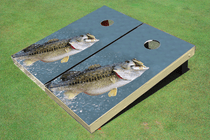 Bass out of Water Cornhole Board set
